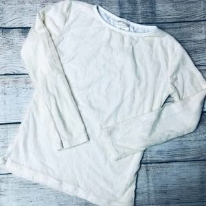 Persnickety sz 7yr ivory lace LS tee
